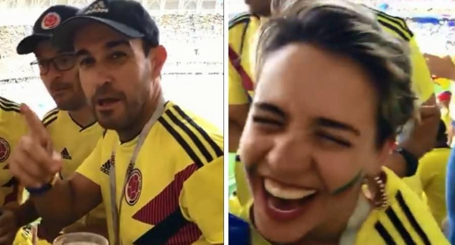 Hinchas colombianos en el Mundial