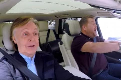 Paul McCartney y James Corden