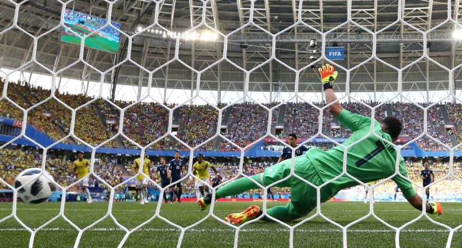 Gol de Japón ante Colombia