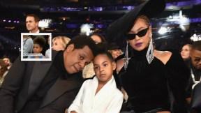 Jay Z, Blue Ivy y Beyoncé