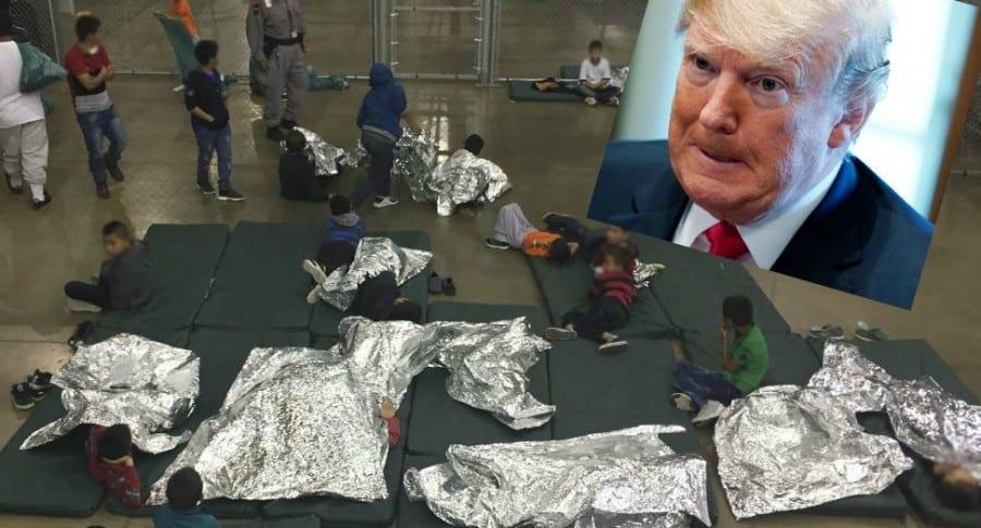 Niños en jaulas
