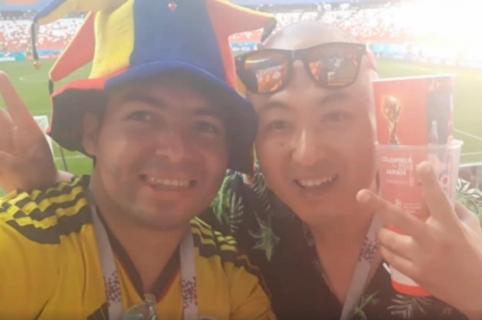 Colombiano con japonés en Rusia 2018.