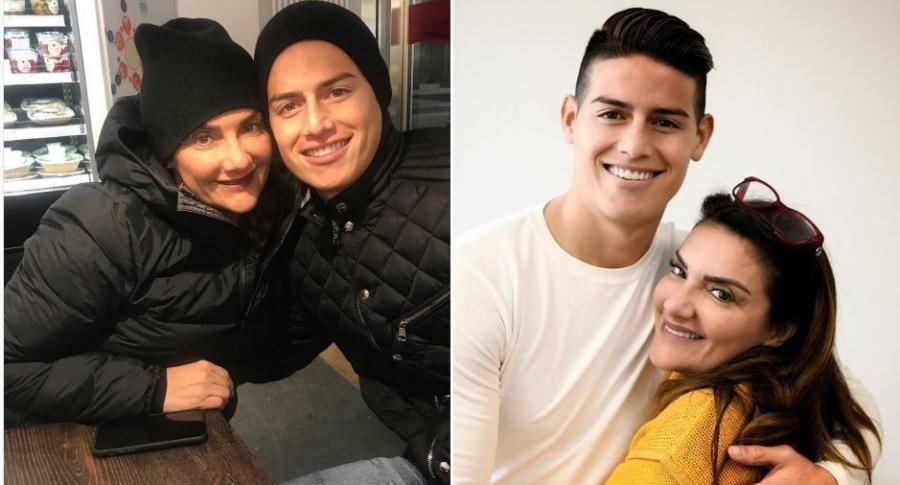 James Rodríguez, futbolista, y su mamá Pilar Rubio.