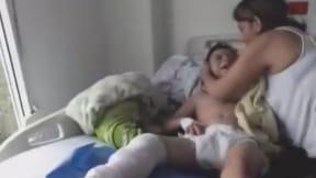 Niño hospitalizado en clínica de Medimás, en Neiva