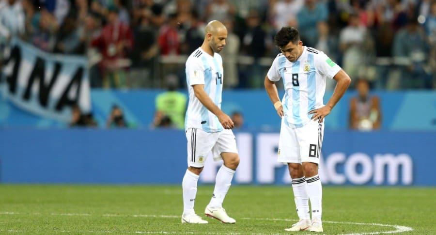 Javier Mascherano y Marcos Acuña