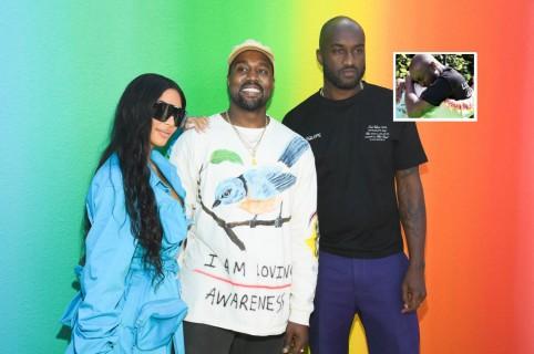Kim Kardashian, Kanye West y Virgil Abloh
