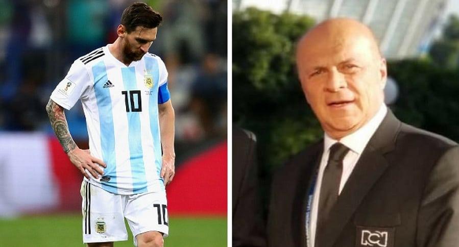 Messi y Carlos Antonio Vélez