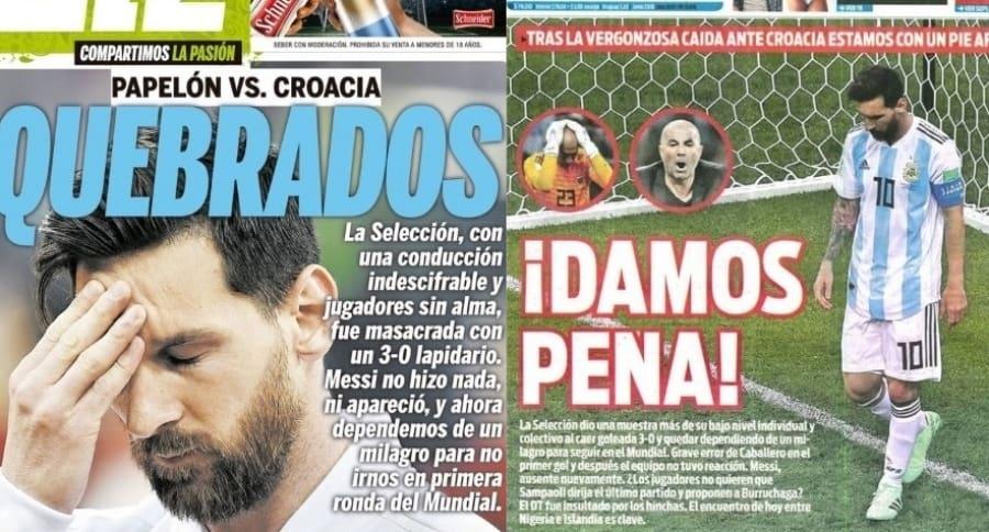Portadas prensa argentina
