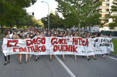 Una de las marchas en Pamplona