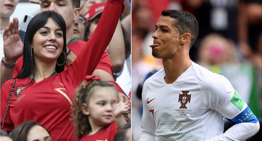Giorgina Rodríguez, modelo, y Cristiano Ronaldo, futbolista.