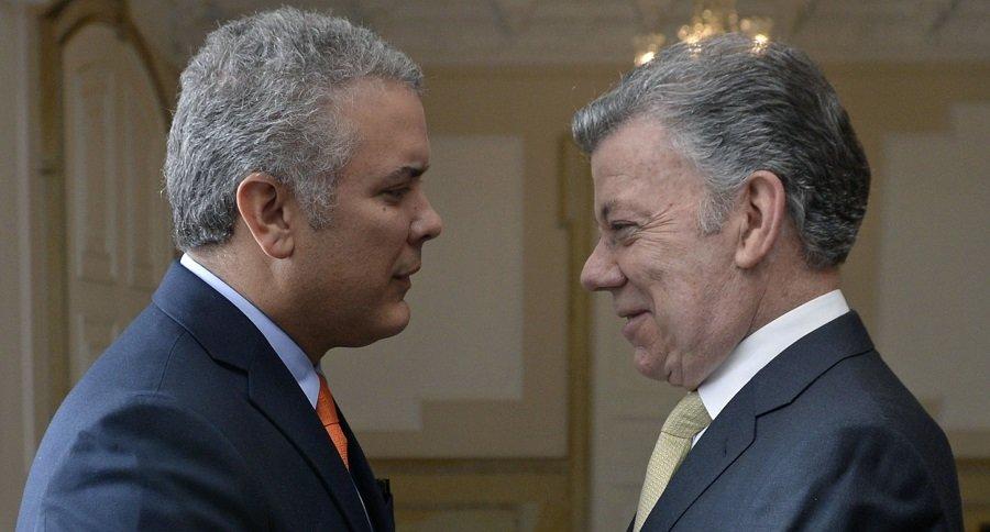 Iván Duque y Juan Manuel Santos