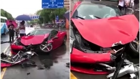 Ferrari destrozado.