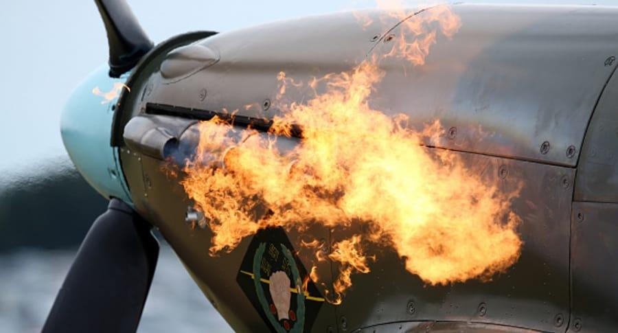 Turbina en fuego