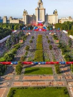 'Fan fest' en Moscú
