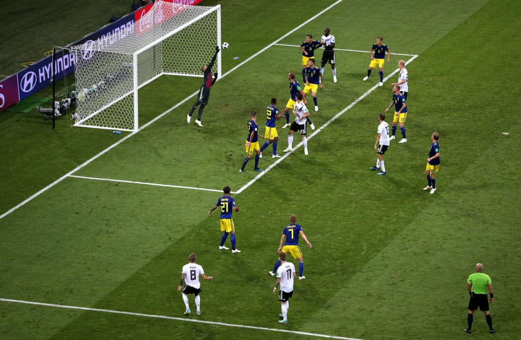 Gol de Toni Kroos ante Suecia