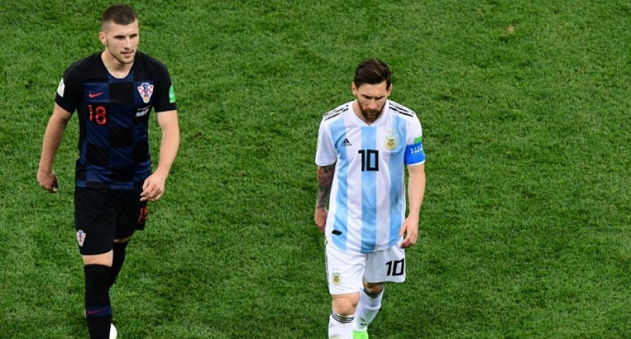 Ante Rebic y Lionel Messi