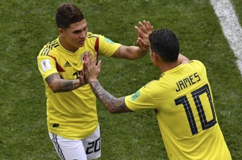 Juan Fernando Quintero y James Rodríguez
