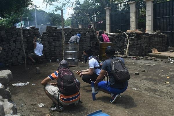 Barricadas de ciudadanos en Nicaragua
