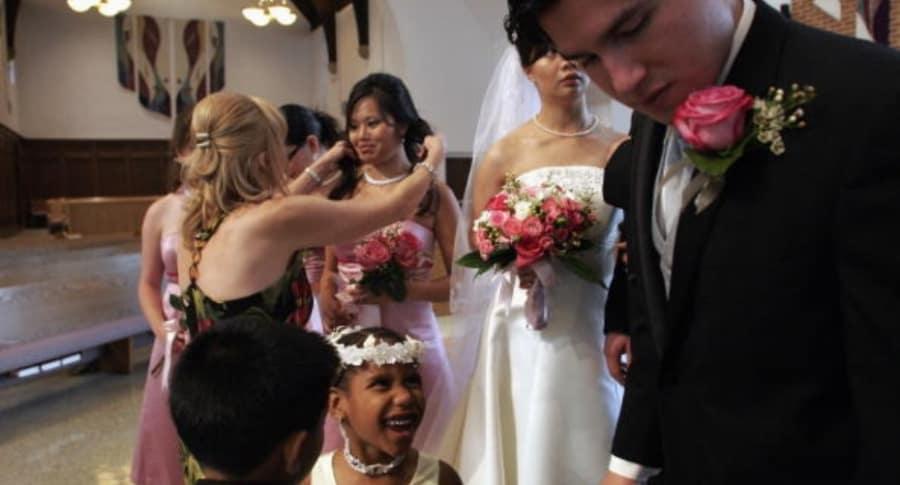 Mujer vestida de novia asesinada