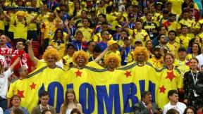 Hinchas colombianos en partido cvon