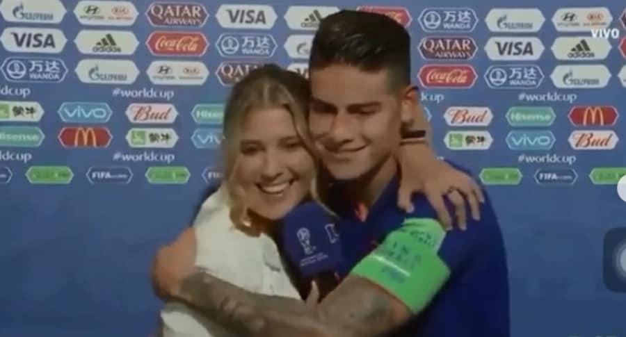 Andrea Guerrero y James Rodríguez