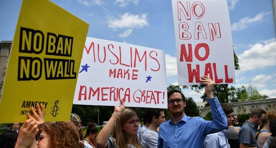 Protestas frente a la Corte Suprema de EE.UU.