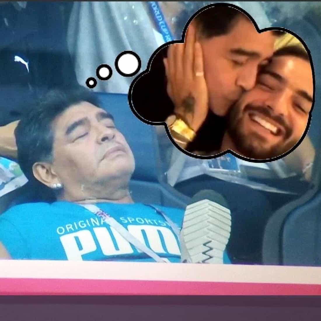 Maradona dormido