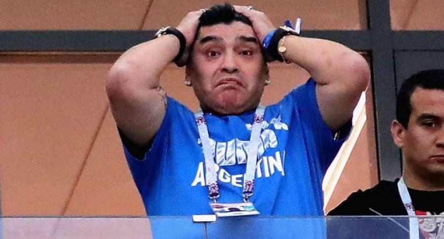 Diego Maradona en Rusia