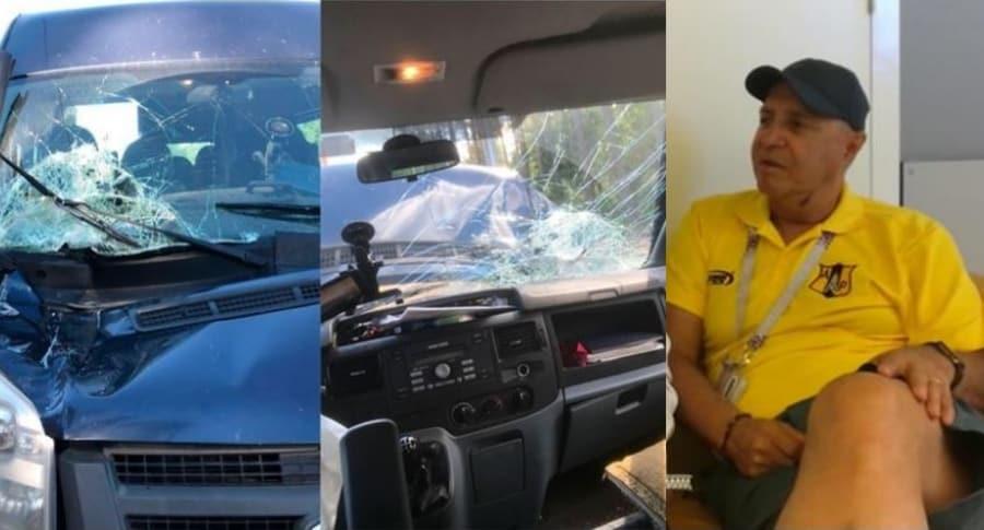 Vehículo accidentado y Carlos Orlando Ferreira