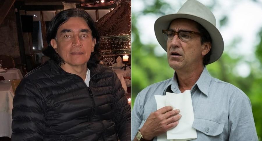 Gustavo Bolívar, libretista y senador, y Luis Fernando Montoya, actor.