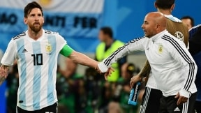 Lionel Messi y Jorge Sampaoli