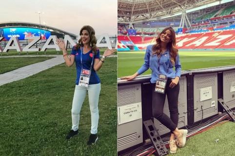Rochi Stevenson y Marina Granziera, presentadoras.