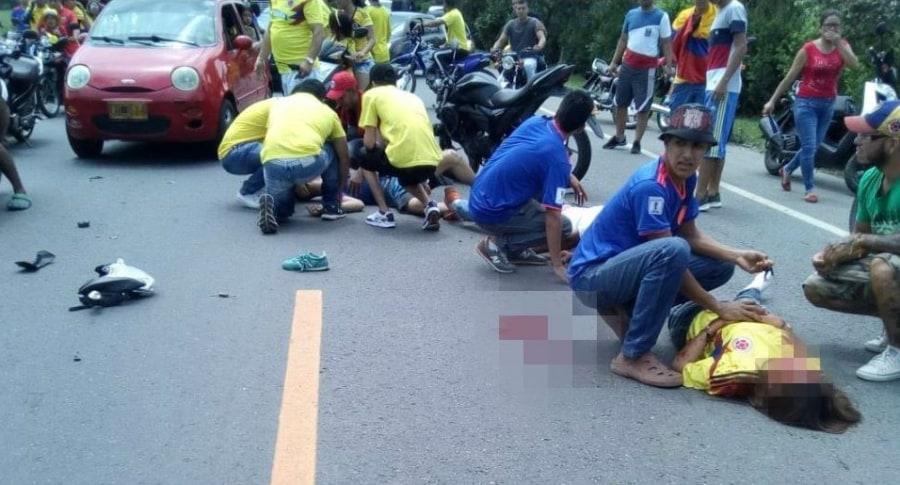 Accidente en caravana