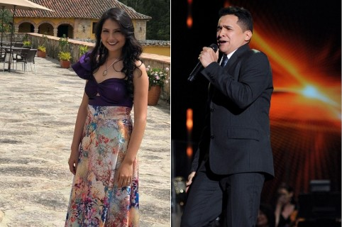Laura Rodríguez, actriz, y Jorge Celedón, cantante.