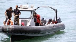Sobrevivientes del naufragio en Libia