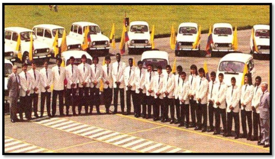 Renault 4 y Selección Colombia