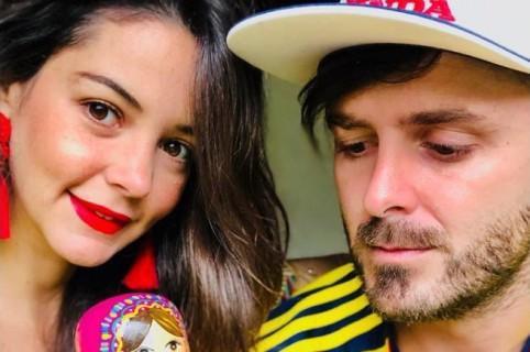 'Tatán' Mejía, motocrosista, con su esposa 'Maleja' Restrepo, actriz, y su hija, Guadalupe.