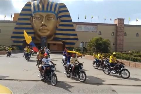 Festejo de hinchas en Cartagena