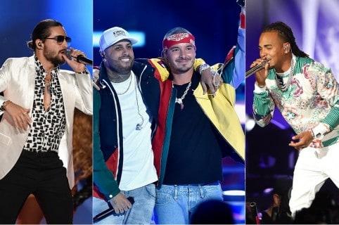 Maluma, Nicky Jam, J Balvin y Ozuna, cantantes.