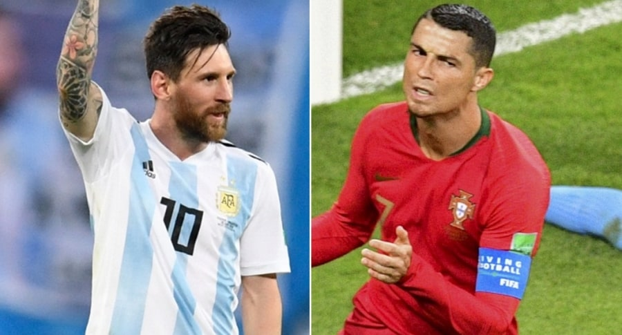Lionel Messi (Argentina) y Cristiano Ronaldo (Portugal)