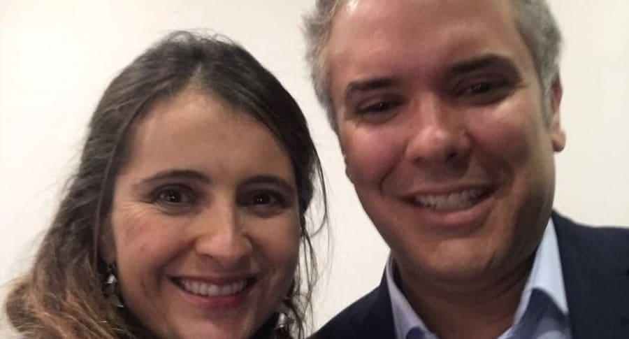 Paloma Valencia e Iván Duque