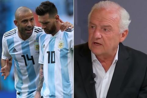 Javier Mascherano, Lionel Messi y Fernando Niembro