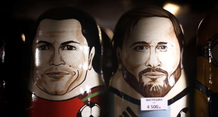 Matrioshka de Cristiano Ronaldo y Lionel Messi