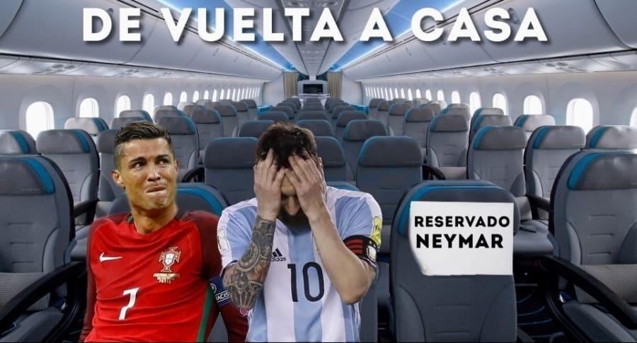 Meme eliminación de Messi y Cristiano Ronaldo