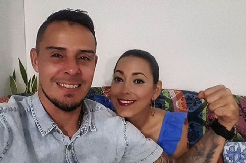 Luis Delgado y su esposa Tatiana García