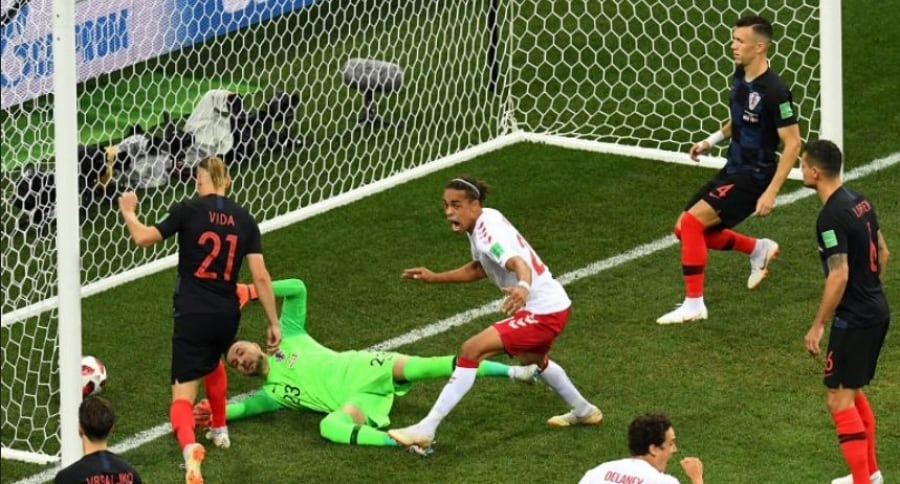 Gol de Dinamarca a Croacia