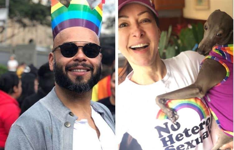 Carlos Vargas, presentador, y Flavia Dos Santos, sexóloga
