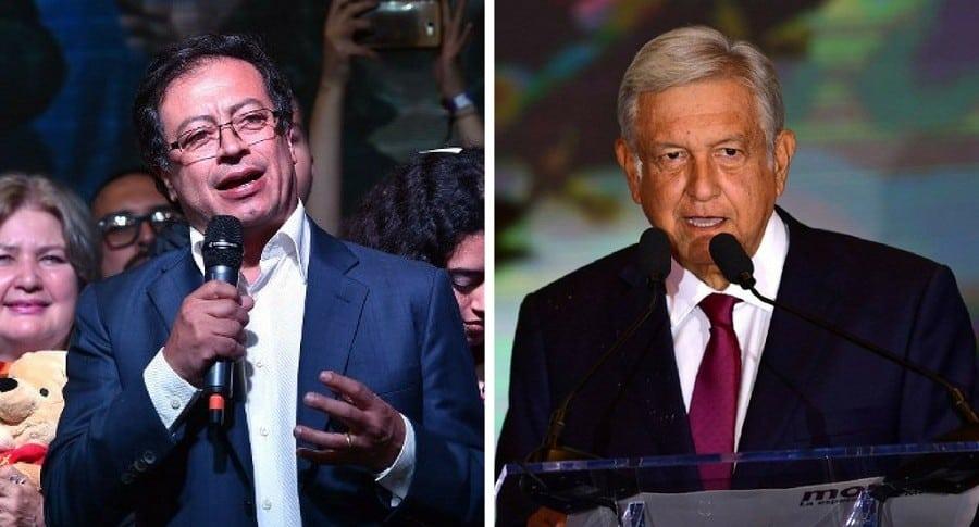 Gustavo Petro y López Obrador