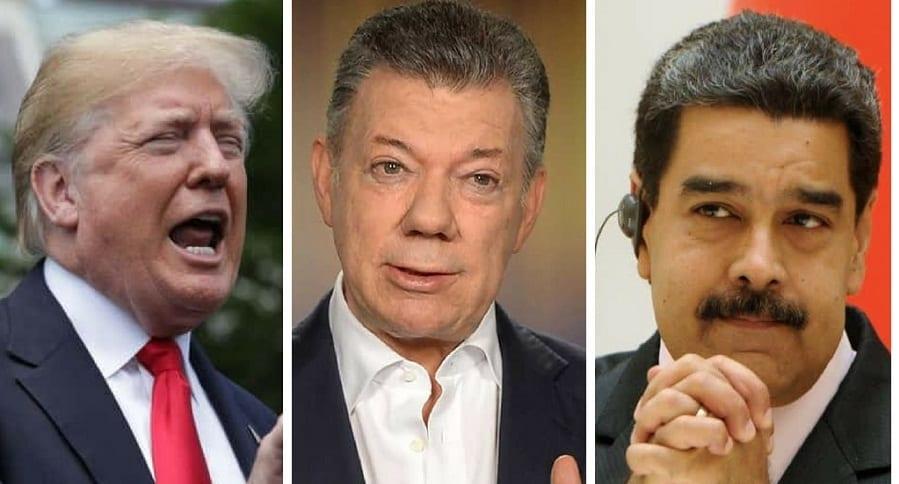 Donald Trump, Juan Manuel Santos y Nicolás Maduro