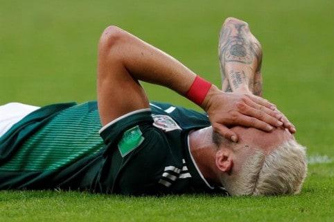 Miguel Layún, luego de finalizar el partido de México ante Brasil.